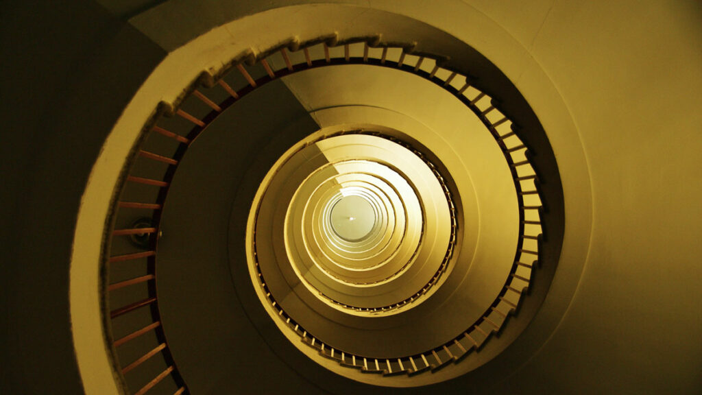 Addictions Discussion Group - Spiral Staircase by Simon Higgens